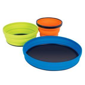 Vajilla para camping Sea to Summit: X-Set 3 (plato X-Plate, plato hondo X-bowl taza X-Mug)