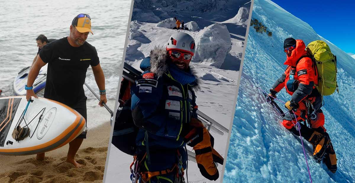 Evento Sea to Summit, Alex Txikon, Antonio de la Rosa y Ferran Latorre